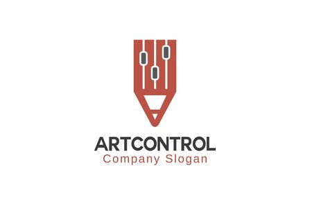 to contemplate: Art Control Logo Design Illustration