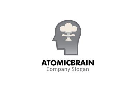 X cerveau logo de conception de symbole illustration Banque d'images - 92134230