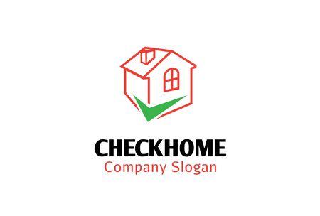 Check Home Logo Design Illustration Illustration