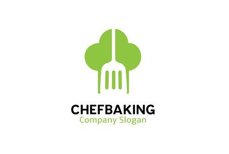 Chef Banking Logo Design Illustration