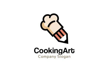 Cooking Art Logo Design Illustration