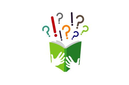 Book Ideas learning Logo Design Illustration Ilustração