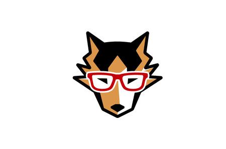 dog: Husky Dog Geek Head Design Illustration