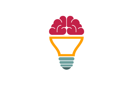 Brain Lamp Creative Design Illustration