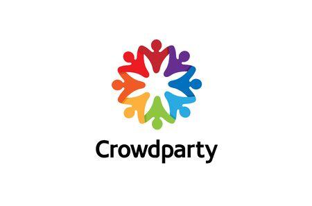 Creative Colorful Crowd Design Illustration  イラスト・ベクター素材