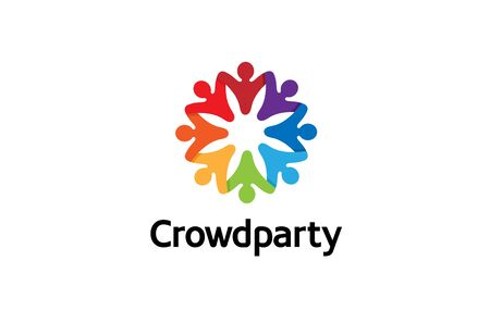 Creative Colorful Crowd Design Illustration 向量圖像