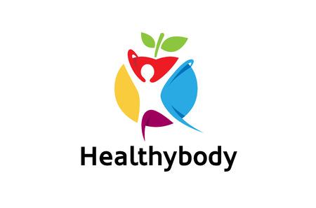 Creative Colorful Healthy Body Design Illustration