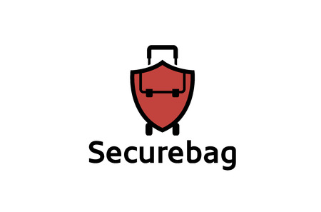 excursion: Red Shield and bag travel Creative Air Logo Design