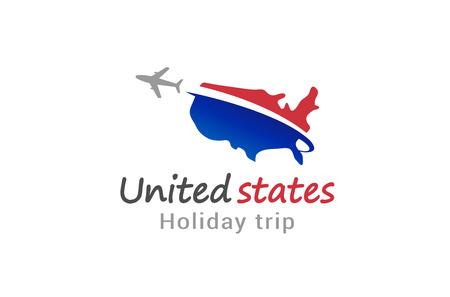 United States flight airplane logo Creative Air Design Illustration