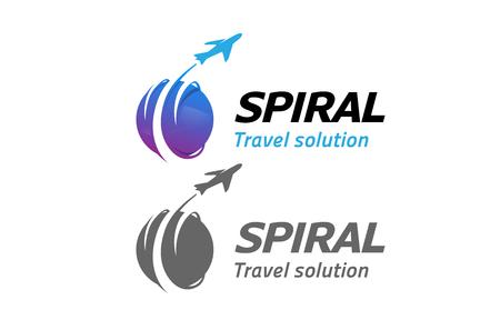 pictograph: Circle Planet Travel Airplane Creative Design Illustration