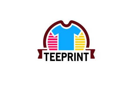 Creative Colorful Unique tshirt Design Symbol Logo Illustration