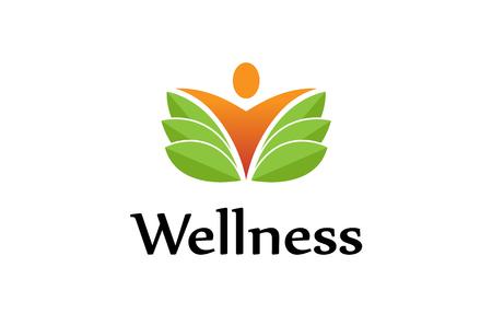 Creative Fresh Body Leaf Logo Symbol Design Illustration