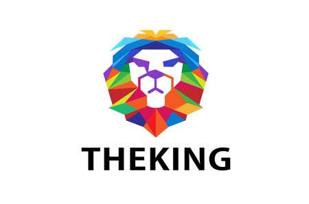 Colorful Lion Head Logo Symbol Design Illustration