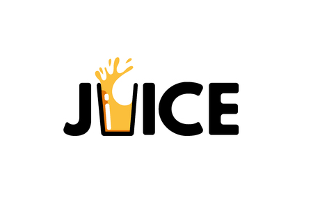 Juice Typography Letter Logo Symbol Design Illustration Ilustracja