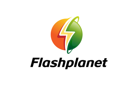 Flash Planet Logo Design Illustration Иллюстрация