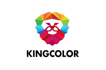 King Color Logo Design Illustration