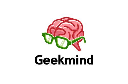 Geek Mind Logo Design Illustration Illustration