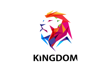 Colorful Creative Lion Head Logo Symbol Design Illustration Zdjęcie Seryjne - 90417540
