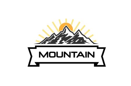 Creative Mountains Sunrise Logo