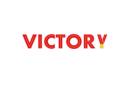 Creative Letter Victory Logo Design Illustration