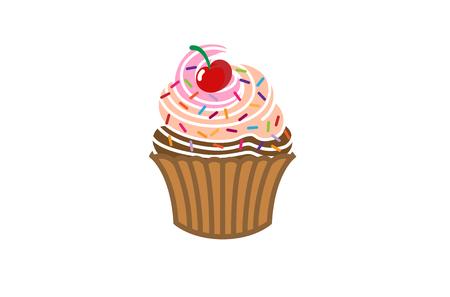 Cupcake delicious icon design symbol illustration.