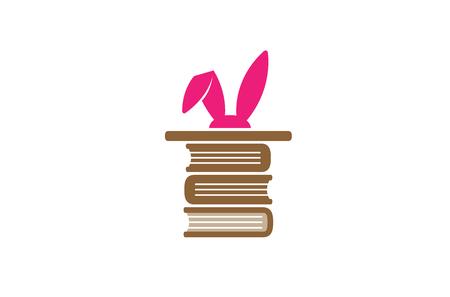 Creative Magic Library Logo Design Illustration