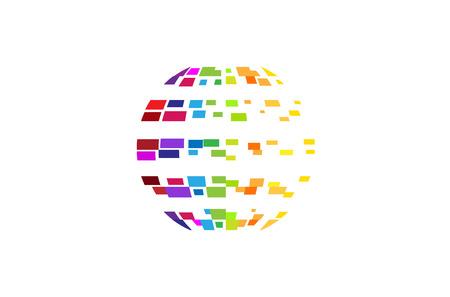 Digital Colorful Planet
