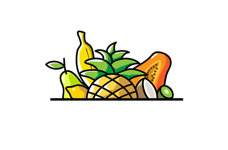 Tropical Fruits Logo