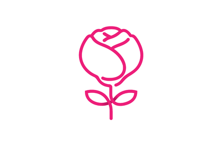 Red Rose Logo Design Symbol Illustration