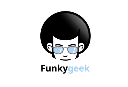 Creative Afro Hair Geek Style icon Design Illustration