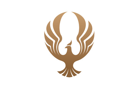 Creative Phoenix Bird icon Design Illustration