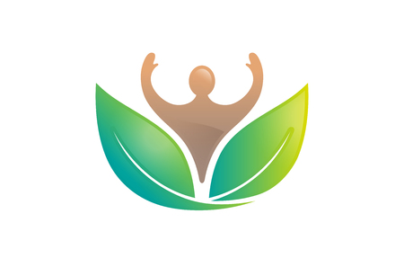 Fresh Wellness Body icon Design Illustration Vectores