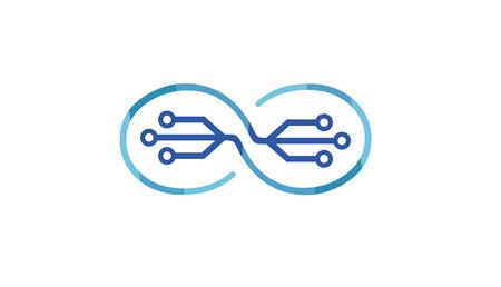 Creativo astratto infinito simbolo tecnologia icona illustrazione design