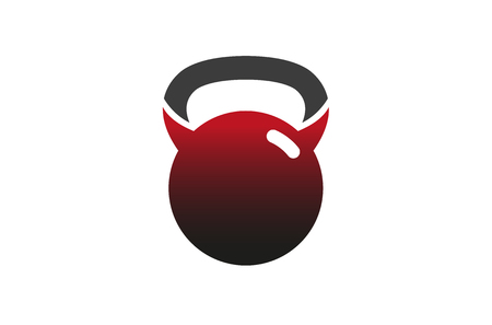 Evil Gym icon Design Illustration