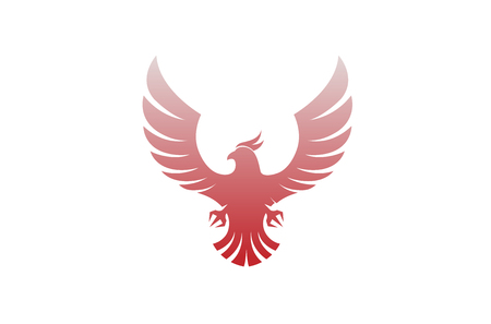 Creative Flying phoenix abstract icon Design Illustration