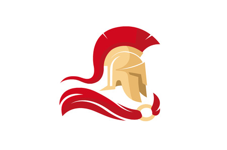 Creative Spartan Helmet design Illustration