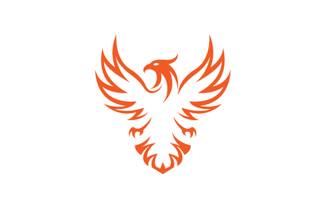 Creative Phoenix Bird icon Design Illustration