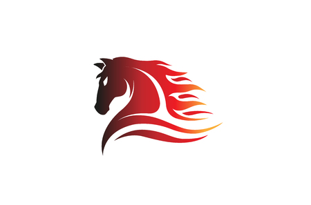 Horse icon design illustration