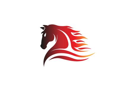Horse icon design illustration
