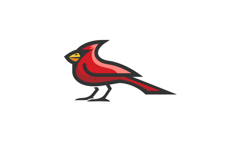 Cardinal Bird icon design illustration Иллюстрация