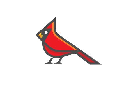 Cardinal Bird icon Design Illustration