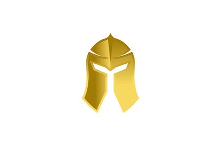 Warrior Helmet icon design illustration