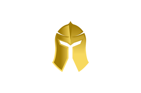 Warrior Helmet icon design illustration