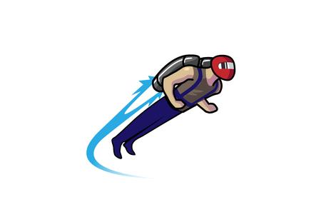 Jetpack icon design illustration