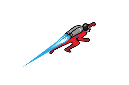 Jetpack Logo Design Illustration Çizim