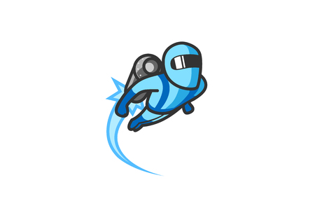 Jetpack Logo Design Illustration Иллюстрация