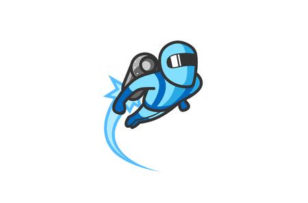 Jetpack Logo Design Illustration Illustration