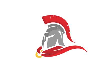 Warrior Helmet Logo Design Illustration