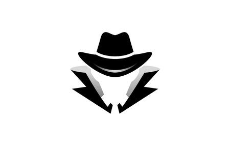 Detective Logo Design Illustration