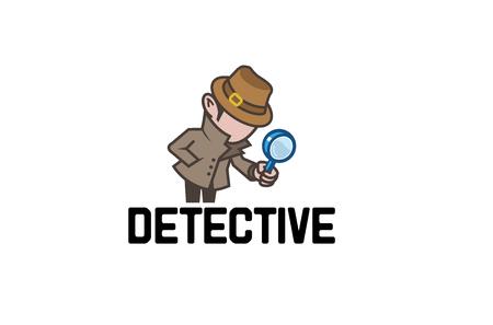 Illustration de conception de logo détective